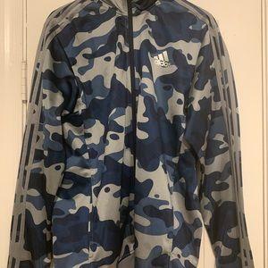 Adidas Camouflage Zip Up Jacket